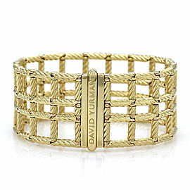 Yurman Windowpane Bracelet in Gold