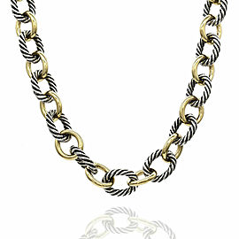 David Yurman Chain Necklace in Silver and Gold