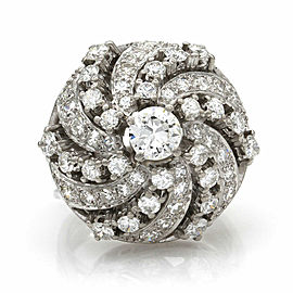 Diamond Swirl Ring in Platinum