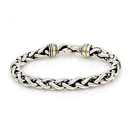 David Yurman Wheat Chain Bracelet in Silver and Gold