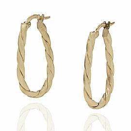 Twisted Hoop Earrings in Gold