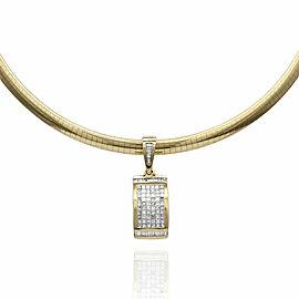 Diamond Drop Pendant in Gold