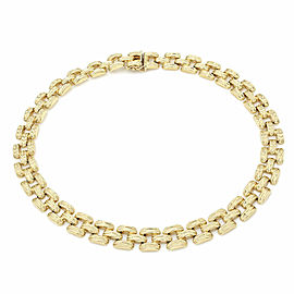 Square Link Necklace in Gold