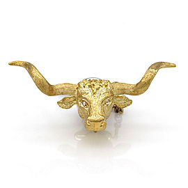 Longhorn Steer Tie Tack in Gold
