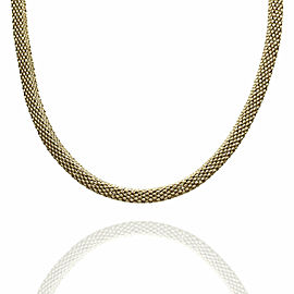 Mesh Box Necklace in Gold