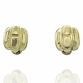 David Webb Clip On Earrings in Gold