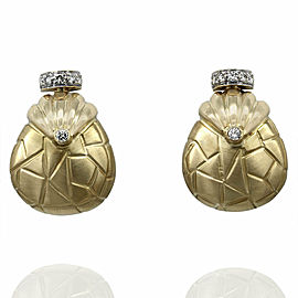 Diamond Handbag Earrings in Gold