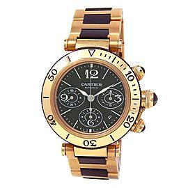 Cartier Pasha Seatimer 18k Yellow Gold Automatic Men's Watch W301970M