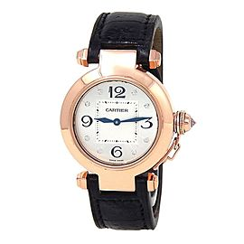 Cartier Pasha 18k Rose Gold Swiss Quartz Ladies Watch WJ11913G
