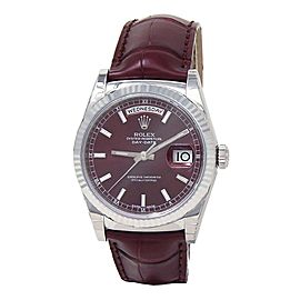 Rolex Day-Date 18k White Gold Automatic Men's Watch 118139