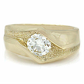 Gents Diamond Solitaire Ring in Gold
