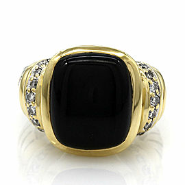 Yurman Onyx Ring in Silver and Gold
