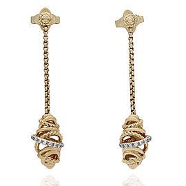 Yurman Diamond Drop Earrings in Gold
