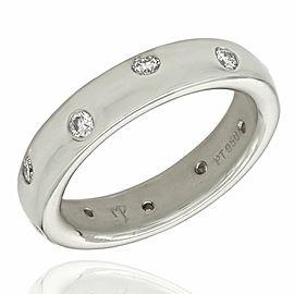 Flush Set Diamond Ring in Platinum