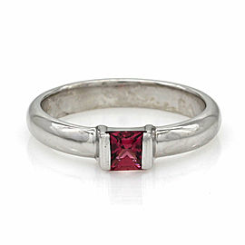Tiffany Pink Tourmaline Ring in Silver