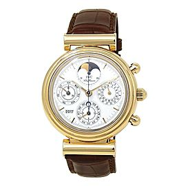 IWC Da Vinci Perpetual Rattrapante 18k Yellow Gold Automatic Mens Watch IW375107