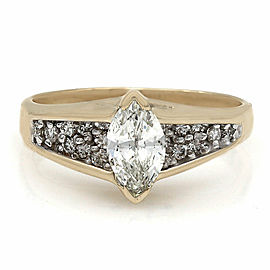 14KY Marquise Diamond Engagement Ring