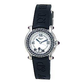 Chopard Happy Sport 18k White Gold Swiss Quartz Ladies Watch 27/6194-21