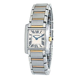 Cartier Tank Francaise Stainless Steel & 18k Yellow Gold Quartz Watch W51007Q4