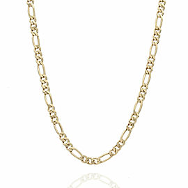 18KY Figaro Chain Necklace 20 IN