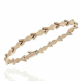 14KR Diamond Shape Arrow Bracelet 7.25 IN