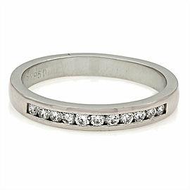 Platinum Single Row Diamond Ring