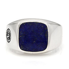 David Yurman SS Lapis Signet Ring