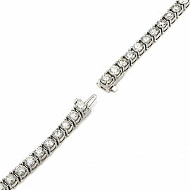 11.00CT Diamond Inline 14KW Bracelet