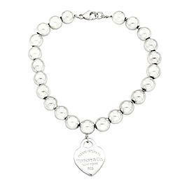 "Tiffany & Co. ""Return to Tiffany"" Heart Tag Sterling Silver Bead Bracelet"