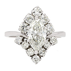 1.31ct Marquise Halo Style Ring in 18kw