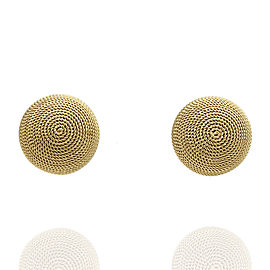 18ky Textured Dome Stud Earrings