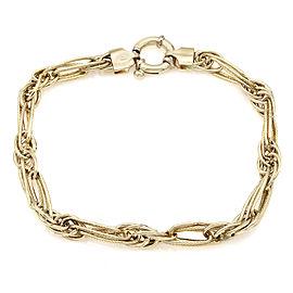 18KY Custom Triple Oval Link Bracelet