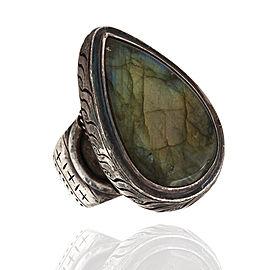 Designer Saville Solid Sterling Silver Labradorite Statement Ring