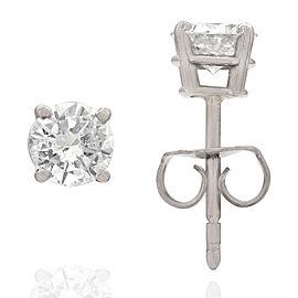 14KW 4 Prong Diamond Stud Earrings