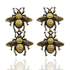 Joseff of Hollywood Double Bee Drop Earrings