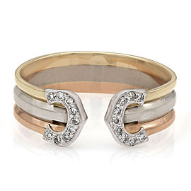 Trinity Diamond Open Ring in Gold