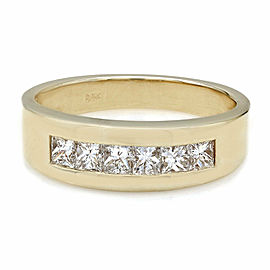 Gentlemans Single Row Princess Diamond Ring