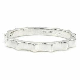 Mexican Modernist 925 Sterling Silver Hinged Bangle Bracelet