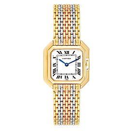Cartier Ceinture Paris Trinity White Yellow Rose Gold Ladies Watch