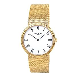 Patek Philippe Calatrava 18k Yellow Gold Men's Watch Quartz 3954/1