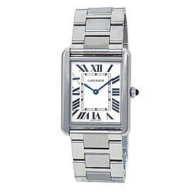 Cartier Tank Solo Stainless Steel Women's Watch Quartz W5200014