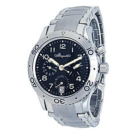 Breguet Type XX Transatlantique Stainless Steel Black Men's Watch 3820ST/H2/SW9