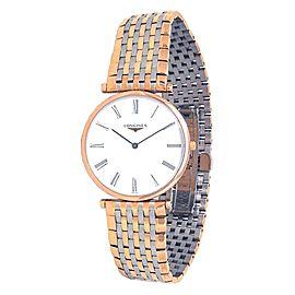 Longines La Grande Classique 18k Rose Gold Steel Quartz Men's Watch L47551917