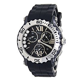 Chopard Happy Sport Stainless Steel Rubber Quartz Black Ladies Watch 288515-9005