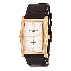 Vacheron Constantin Historiques 18k Rose Gold Silver Men's Watch 81018/000R-9657