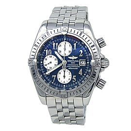 Breitling Chronomat Evolution Stainless Steel Automatic Blue Men's Watch A13356