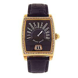 Gerald Genta Retro Solo 18k Yellow Gold Diamond Bezel Automatic Watch G.3671