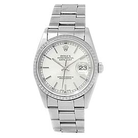 Rolex Datejust Stainless Steel Oyster Automatic Silver Men's Watch 16220