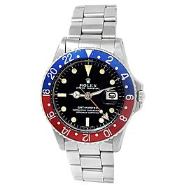 Rolex Vintage GMT-Master Pepsi Stainless Steel Automatic Black Men's Watch 1675