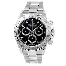 Rolex Daytona Stainless Steel Oyster Chronograph Auto Black Men's Watch 116520
